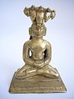 Indian Jain Bronze 23rd Tirthankara 18th Century