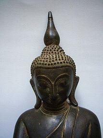 Burmese Bronze Buddha Shan State 18th Century
