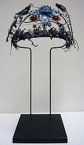 Chinese Late Qing Enamelled Copper Tiara
