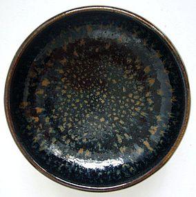 Song Cizhou Bowl with Oilspot Glaze