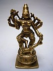 Indian Bronze Durga 17th Century