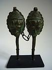 Documented Early Bronze Ogboni Edan Figures