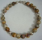 Mexican Onyx and Sterling Silver Necklace