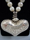 Mexican Sterling Silver and Freshwater Pearl Necklace
