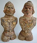 Pair of Tang Dynasty Pottery Warriors with TL-test