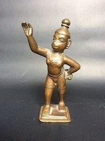 Indian Bronze Hanuman 18th Century