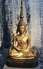 Thai Ratanakosin Gilt Bronze Buddha 19th Century