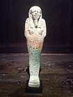 Egyptian Faïence Late Period Ushabti