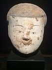 Han Dynasty Pottery Head (206BC-220AD)