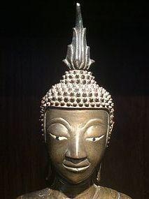 Laos Bronze Buddha 17th Century