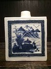 Chinese B&W Porcelain Tea Caddy 19th Century