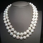 Double Strand Freshwater Pearl Necklace