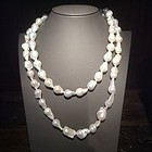 Very Long Baroque Freshwater Pearl Necklace