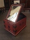 Chinese Red Lacquer Toiletry Box