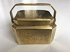 Chinese Late Qing Brass Handwarmer