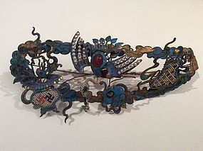 Late Qing Kingfisher Hair Decoration