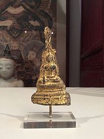 Burmese Gilded Lead Buddha 18th/19th Century