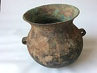 Han Dynasty Bronze Cooking Pot