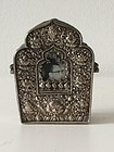 Tibetan Repousse Silver and Copper Gau