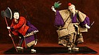 Late Edo Period Takeda Ningyo of Benkie and Yoshitsune