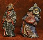 Kyogen Theater Couple, Okame and Usobuki Ceramic Figure