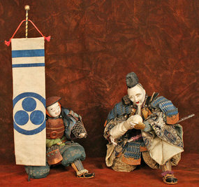 Edo Period Ningyo of Takenouchi no Sukune and Attendant