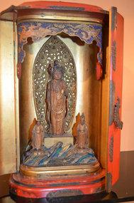 Edo Period Portable Buddhist Shrine w/Exquisite Carving