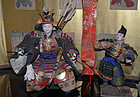 Late Edo Period Musha Ningyo of Samurai and Attendant