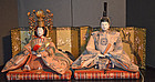 Japanese Dairi-bina Imperial Couple Girl's Day Dolls