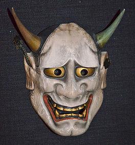 Signed Meiji Period Noh Mask of Jealous Female Hannya