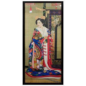 Set of Six Japanese Meiji Dynasty Imperial Portraits