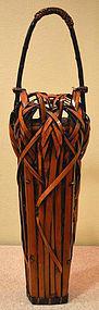 Spectacular 19th Century Japanese Bamboo Ikebana Basket