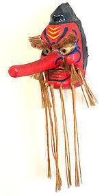 Large, Powerful Tengu Mask by Renowned Artisan Hashimoto Yoshinobu