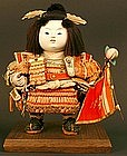 Splendid 19th Century Momotaro the Peach Boy Doll