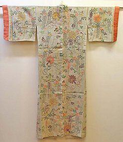 Fine and Rare 18th Century Japanese Noh Theater Robe