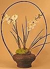 Very Fine, Monumental Edo Period Ikebana Basket