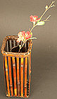 Signed Early 19th Century Ikebana Wall Basket by Mineko