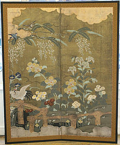 19th Century Japanese Rimpa Style Nature Screen