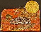 Edo Tobacco Pouch with Dragon Netsuke by Tokutaka