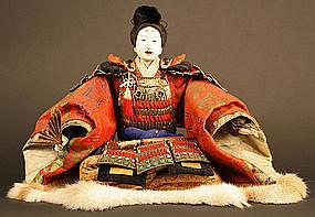 Ushiwakamaru Ningyo, Historical Warrior as a Boy