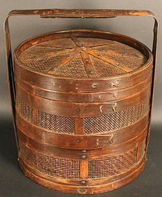Antique Japanese Bamboo Steamer
