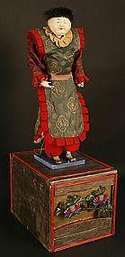 Very Rare 18th Century Karakuri Ningyo Mechanical Doll