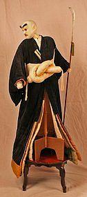 Very Fine and Rare Large Edo Period Bunraku Puppet