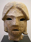 5th Century Female Haniwa Head, Japanese Clay Sculpture