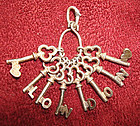 FANTASTIC Skeleton Keys Charm / Pendant LONDON