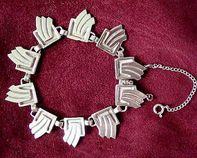 Fine BETO Sterling Link Bracelet - Geo Design MEXICO