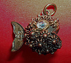 Sterling Silver Puffer Fish Blow Fish Charm MEXICO