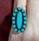 Vintage Sterling Silver Turquoise Ring Native American