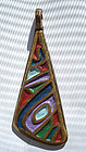 Colorful Abstract Pendant Enamel Bronze ISRAEL