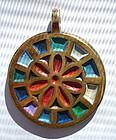 Colorful Circular Pendant Medalion Bronze ISRAEL